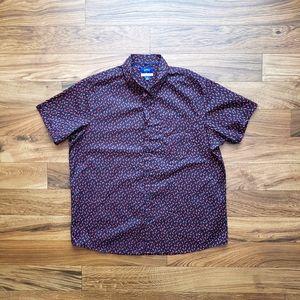 Apt.9 Hot red pepper short sleeve shirt